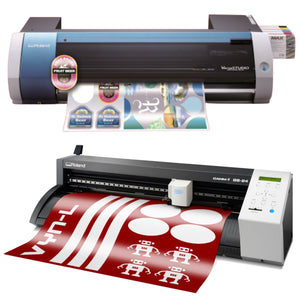 Roland BN-20 Eco-Solvent Printer & Cutter w/ CAMM-1 GS-24 Vinyl Cutter Bundle Eco Printers Roland