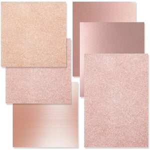 Rose Gold Vinyl & Rose Gold Siser Heat Transfer Starter Kit - 6 Sheets - Swing Design