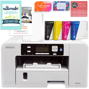 "Sawgrass UHD Virtuoso SG500 Sublimation Printer & 15"" White Heat Press Bundle Sublimation Bundle Sawgrass"