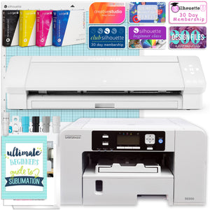 "Sawgrass UHD Virtuoso SG500 Sublimation Printer & Cameo 4 PLUS 15"" Bundle Silhouette Bundle Silhouette"
