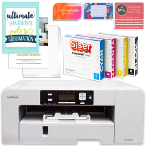 Sawgrass Virtuoso SG1000 Sublimation Printer w/ 8-in-1 Heat Press Bundle Sublimation Bundle Sawgrass