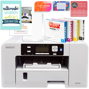 "Sawgrass Virtuoso SG500 Sublimation Printer & 15"" Turquoise Heat Press Bundle Sublimation Bundle Sawgrass"