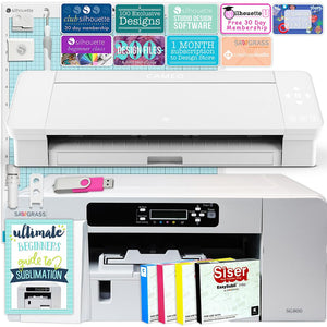 Sawgrass Virtuoso SG800 Sublimation Printer & Cameo 4 Bundle Silhouette Bundle Silhouette