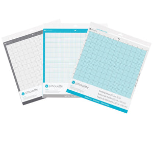 Silhouette 3 Pack Cutting Mats, Strong Grip, Regular Grip, & Light Grip Silhouette Silhouette