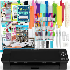 Silhouette Black Cameo 4 Bundle w/ Oracal 651 Vinyl, Tools, Guides, and Pixscan Silhouette Bundle Silhouette