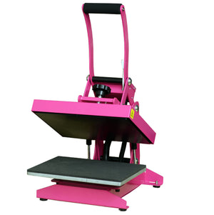 Silhouette Black Cameo 4 Heat Press T-Shirt Bundle with Pink Heat Press, Siser HTV - Swing Design