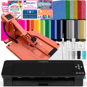 "Silhouette Black Cameo 4 w/ 15"" x 15"" Coral Slide Out Heat Press Bundle Silhouette Bundle Silhouette"