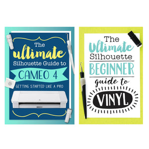Silhouette Black Cameo 4 w/ 64 Oracal Vinyl Sheets, Tools, Guides Silhouette Bundle Silhouette