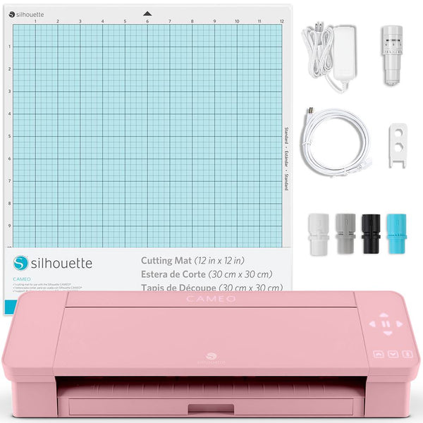 Silhouette Blush Pink Cameo 4 w/ Updated Autoblade, 3x Speed, Roll Feeder,  and More