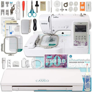 Silhouette Cameo 3 and Brother Embroidery Machine Bundle - Swing Design
