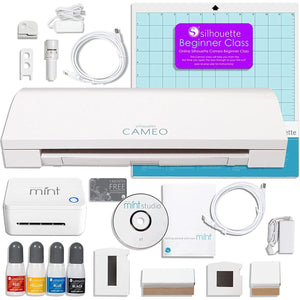 Silhouette Cameo 3 Bluetooth and Silhouette Mint Stamping Machine Bundle - Swing Design