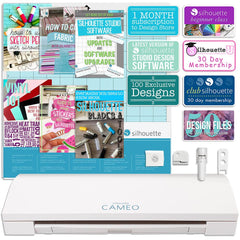 Silhouette Cameo 3 Bluetooth, Auto Adjusting Blade, Enhanced Touch Screen, and More Silhouette Bundle Silhouette