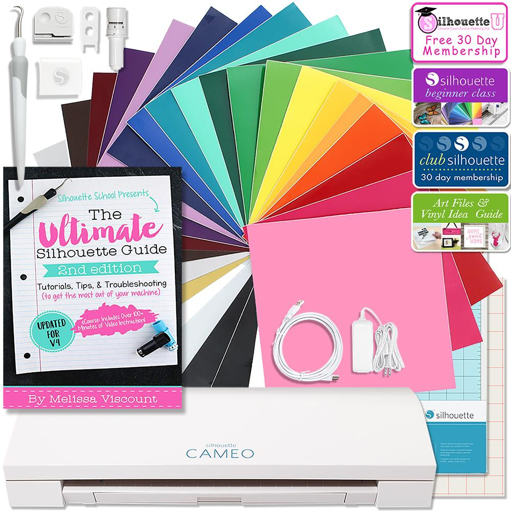SALE Silhouette Cameo 3 Bluetooth Adhesive VINYL /& HTV BUNDLE Free Cover