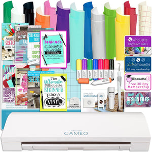 Silhouette Cameo 3 Bluetooth Bundle with Oracal 651 Vinyl, Sketch Pens, Guide Books, and More - Swing Design