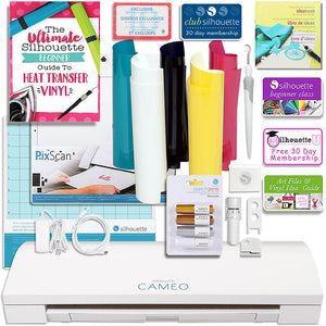Silhouette Cameo 3 Bluetooth Bundle with Pixscan, Guide, Class, Pens, Heat Transfer Kit, and More! - Swing Design