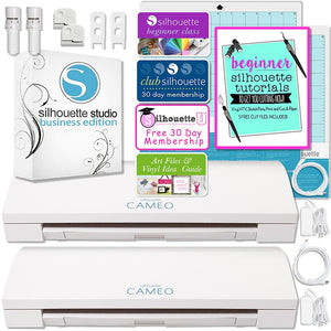 Silhouette Cameo 3 Bluetooth Business Bundle with TWO Cameo Machines and Silhouette Business Software - Swing Design