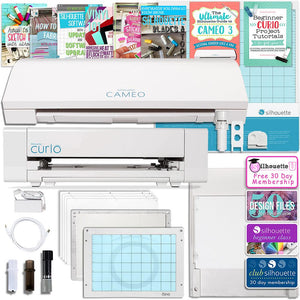 Silhouette Cameo 3 Bluetooth Machine and Curio Machine Bundle - Swing Design