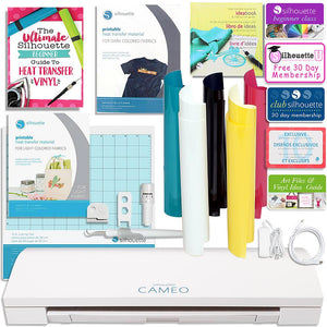 Silhouette Cameo 3 Bluetooth T Shirt Starter Bundle with Guide, Class, Heat Transfer Kit, and More! - Swing Design