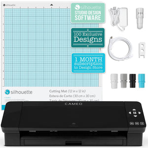 Silhouette Cameo 4 Electronic Cutter Black - Swing Design