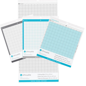 "Silhouette Cameo 4 Pack Cutting Mats, Strong Grip, Regular Grip, 24"", & Light Grip Silhouette Silhouette"