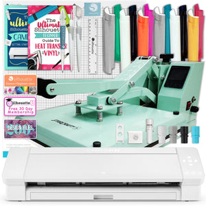 "Silhouette Cameo 4 PLUS - 15"" Heat Press Bundle w/ Mint 15"" x 15"" Heat Press Silhouette Bundle Silhouette"