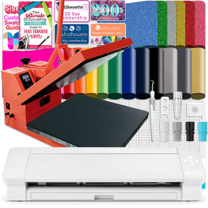 "Silhouette Cameo 4 PLUS - 15"" w/ 15"" x 15"" Coral Heat Press Bundle Silhouette Bundle Silhouette"