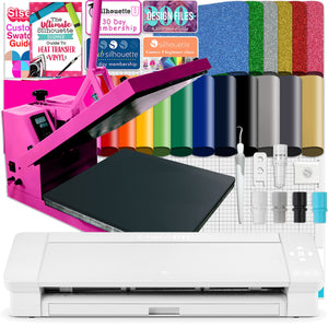 "Silhouette Cameo 4 PLUS - 15"" w/ 15"" x 15"" Pink Heat Press Bundle Silhouette Bundle Silhouette"