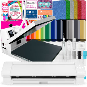 "Silhouette Cameo 4 PLUS - 15"" w/ 15"" x 15"" White Heat Press Bundle Silhouette Bundle Silhouette"