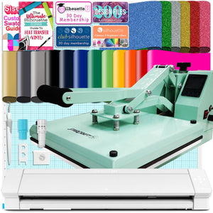 "Silhouette Cameo 4 PRO - 24"" Heat Press Bundle w/ Mint 15"" x 15"" Heat Press Silhouette Bundle Silhouette"