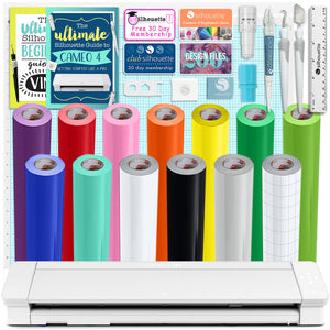 "Silhouette Cameo 4 PRO - 24"" w/ Oracal 651 Vinyl Rolls, Tools, Guides Silhouette Bundle Silhouette"