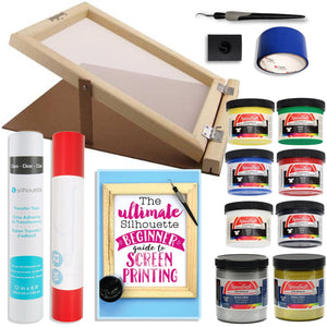 "Silhouette Cameo Screen Printing Bundle with Extra Paints and 10"" x 14"" Screen with Base - Swing Design"
