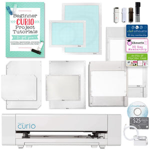 Silhouette Curio Digital Crafting Machine with Large Base and Deep Cut Blade Bundle - Swing Design