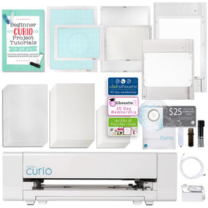 Silhouette Curio Digital Crafting Machine with Large Base and Embossing Bundle - Swing Design