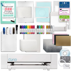 Silhouette Curio Digital Crafting Machine with Large Base, Etching, Sketching, Emboss and More - Swing Design