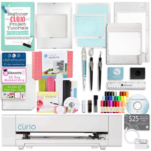 Silhouette Curio Digital Crafting Machine with Vinyl Starter Kit and Accessories - Swing Design