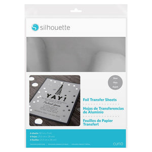 Silhouette Foil Transfer Sheets - Silver Silhouette Silhouette