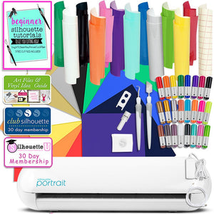 Silhouette Portrait 2 Bundle with Oracal 651 Sheets, Siser Easyweed Sheets Silhouette Bundle Silhouette