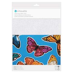 Silhouette Sticker Paper - Glitter White - Swing Design