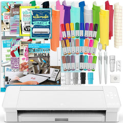 Silhouette White Cameo 4 Bundle w/ Oracal 651 Vinyl, Tools, Guides, and Pixscan Silhouette Bundle Silhouette