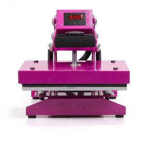 Silhouette White Cameo 4 Heat Press T-Shirt Bundle with Pink Heat Press, Siser HTV - Swing Design