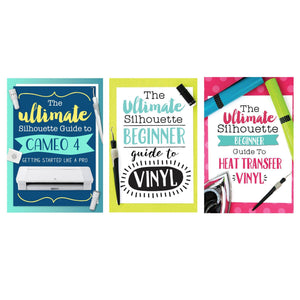 "Silhouette White Cameo 4 PLUS - 15"" w/ Blade Pack, 38 Sheets Vinyl, HTV, Pens Silhouette Bundle Silhouette"