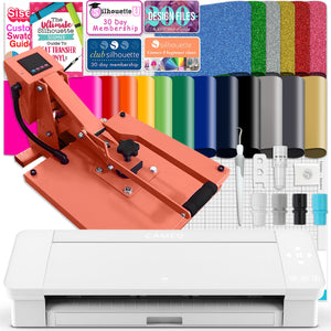 "Silhouette White Cameo 4 w/ 15"" x 15"" Coral Slide Out Heat Press Bundle Silhouette Bundle Silhouette"