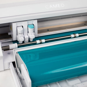 Silhouette White Cameo 4 w/ Updated Autoblade, 3x Speed, Roll Feeder - Swing Design