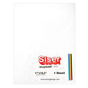 "Siser EasySubli Sublimation Heat Transfer Vinyl 11"" x 16.5"" - Sheet Sublimation Siser"