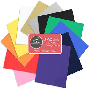 "Siser EasyWeed Heat Transfer Assorted Pack: 12 -12"" x 15"" Sheet  Bundle - Sale! - Swing Design"