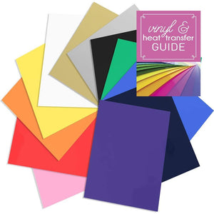 "Siser EasyWeed Heat Transfer Assorted Pack: 12 -12"" x 15"" Sheet Starter Bundle with Guide - Swing Design"