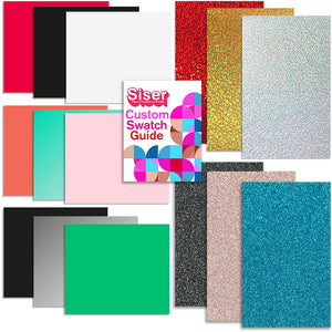 Siser EasyWeed Heat Transfer Starter Sample Pack - 15 Sheets - Swing Design