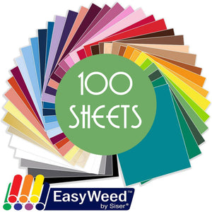"Siser Easyweed Heat Transfer Vinyl (HTV) - 100 Sheets - Build a Bundle, 12"" x 15"" - Swing Design"
