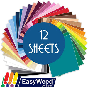 "Siser Easyweed Heat Transfer Vinyl (HTV) - 12 Sheets - Build a Bundle, 12"" x 15"" Siser Heat Transfer Siser"
