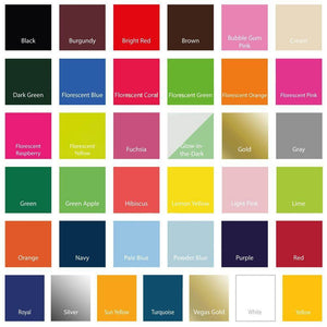 "Siser EasyWeed Heat Transfer Vinyl (HTV) 12"" x 12"" Sheets - 46 Colors Available - Swing Design"